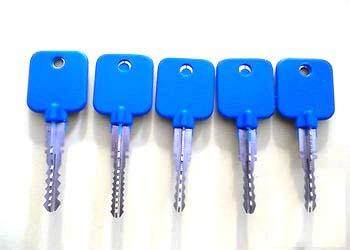十字锁万能钥匙5件套